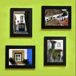 Uličky a okna, set fotografií