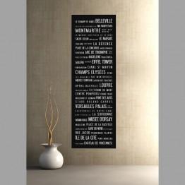 Paříž, dlouhý plakát