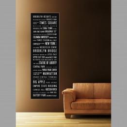New York, dlouhý plakát